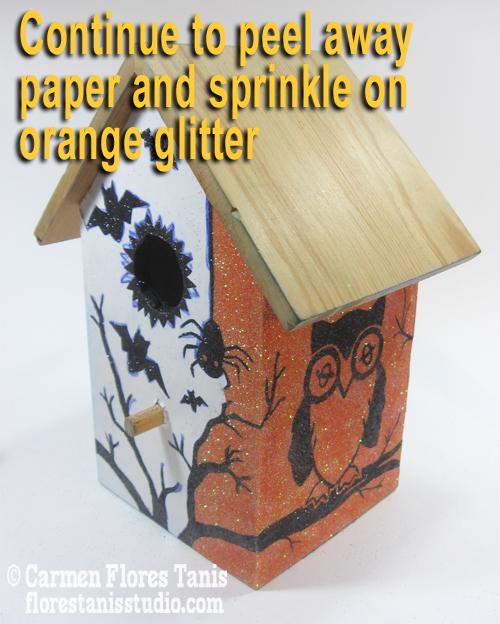 5-Do Orange glitter next
