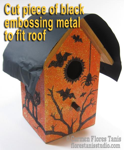 7-Cut piece of embossing foil
