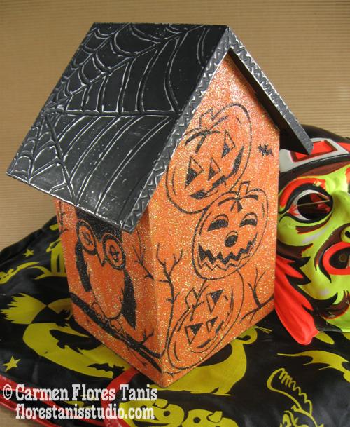 23-Backside of Glittery Haunted Birdhouse