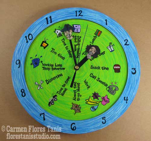Personalized Wood Clock - For My Sweetie!
