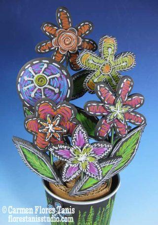 Chalkboard-Flower-Pot-Bouquet-by-Carmen-Flores-Tanis-7