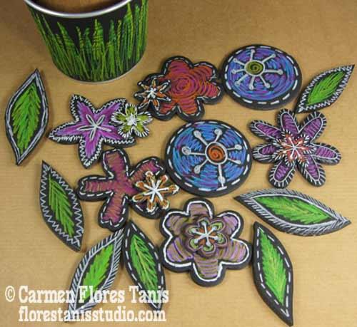 Chalkboard-Flower-Pot-Bouquet-by-Carmen-Flores-Tanis-5