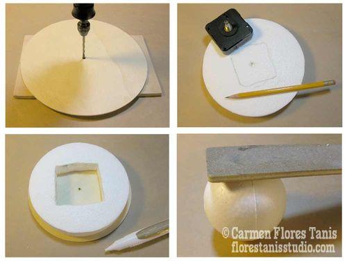 Good Handmade Home Decor Mid Century Inspired Retro Satellite Ball Clock How 1  By Carmen. Handmade