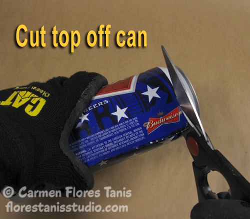 Red White and Blue Aluminum Can Cuff by Carmen Flores Tanis8