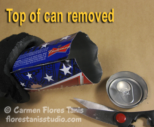 Red White and Blue Aluminum Can Cuff by Carmen Flores Tanis9