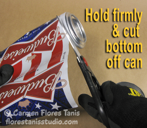 Red White and Blue Aluminum Can Cuff by Carmen Flores Tanis 10
