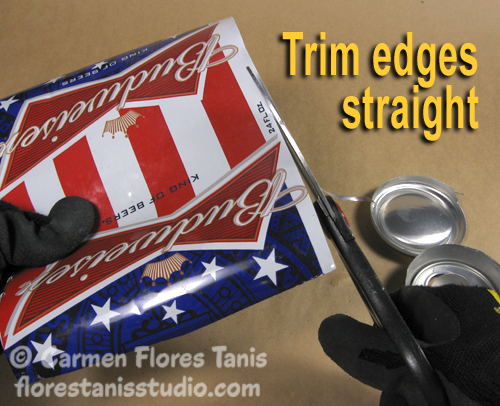 Red White and Blue Aluminum Can Cuff by Carmen Flores Tanis 11