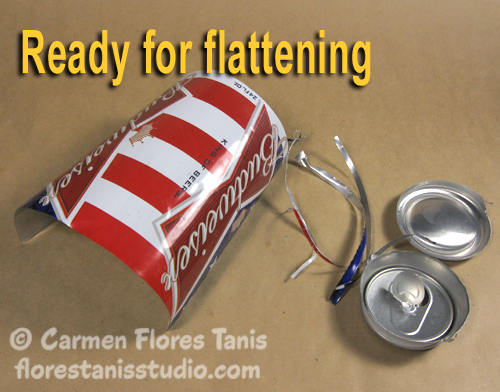 Red White and Blue Aluminum Can Cuff by Carmen Flores Tanis 12