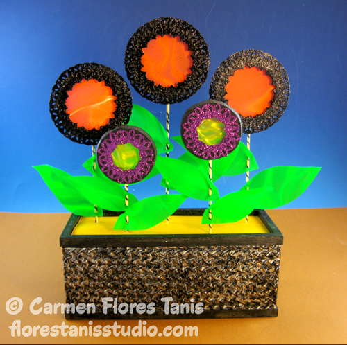 Halloween Flower Box by Carmen Flores Tanis