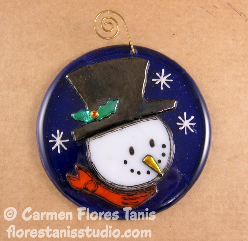 Cheery-Snowman-Ornament-by-Carmen-Flores-Tanis