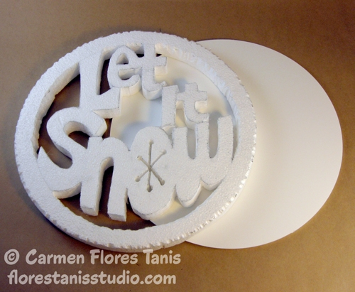 Let It Snow Carved Wall Decoration 1 by Carmen Flores Tanis