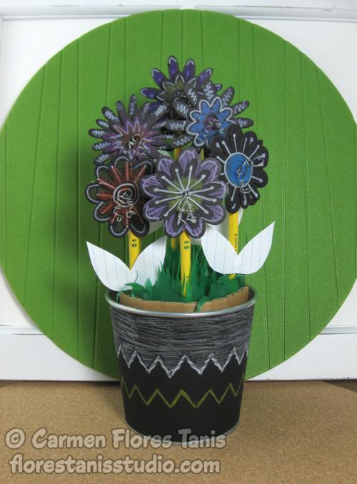 Pencil-Flower-Bouquet-by-Carmen-Flores-Tanis