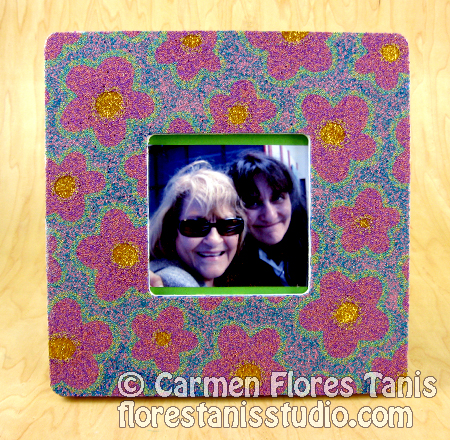 May Flowers Mothers' Day Glittery Picture Frame-by-Carmen-Flores-Tanis-1-new