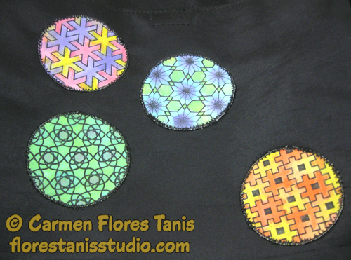 Painted Printed Patches Tote Bag Tutorial by Carmen Flores Tanis