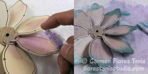 Bumble Bee Flower Pinwheel by Carmen Flores Tanis Step Out Montage 4