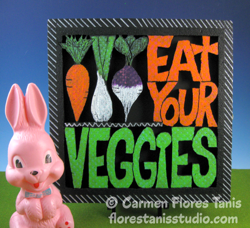 Eat-Your-Veggies-Carved-Panel-by-Carmen-Flores-Tanis-500px