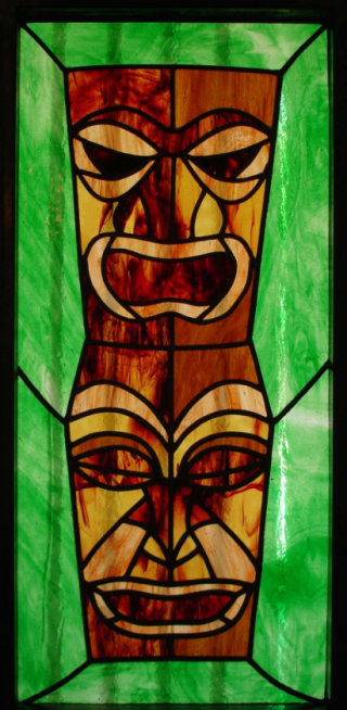 Tiki Stained Glass