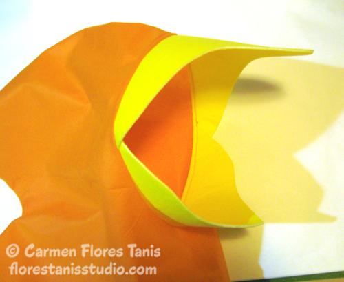 Oly*Fun Googly Bird Halloween Costume Hood by Carmen Flores Tanis