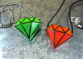 Cool2Cast Faux Jewel Pendant by Carmen Flores Tanis