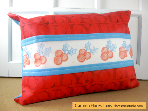 Holly-Jolly-Stamped-Pillow-by-Carmen-Flores-Tanis