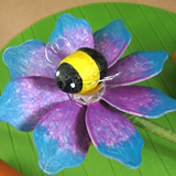 Bumble Bee Flower Pinwheel