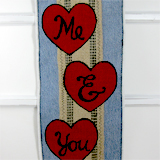 Burlap Sweetheart Panel