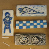 Carved Eraser Veggie Stamps