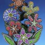 Chalkboard Inspired Flower Pot Bouquet