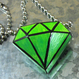 Cast Faux Jewel Pendant