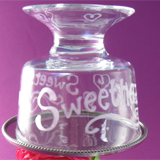 Etched Thank You Cake Stand