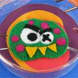 Felted Lab Monster