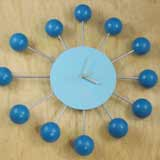 Mid-Century Inspired Retro Satellite Ball Clock
