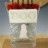 Halloween Stamped Boo Vase