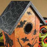 Glittery Haunted Birdhouse