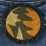 Fall Leaves Jigsaw Puzzle Brooch