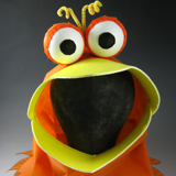 Googly Bird Halloween Costume Hood