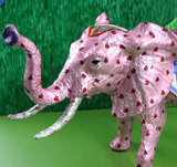 Birthday Wishes Pink Candy Foil Elephant