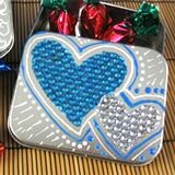 Rhinestone Valentine Favor Box