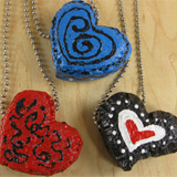 Trio of Hearts Foam Hearts